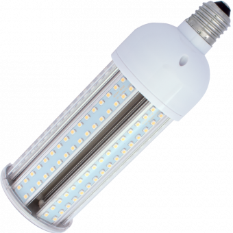 Corn SMD 3528 LED-240 E27 24W 230VAC warm white 3000K without cover 70x215mm 2400lm 360°