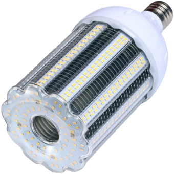 Corn SMD 5630 LED-408 E40 100W 230VAC white 4000K without cover 140x318mm 12500lm 360° IP64