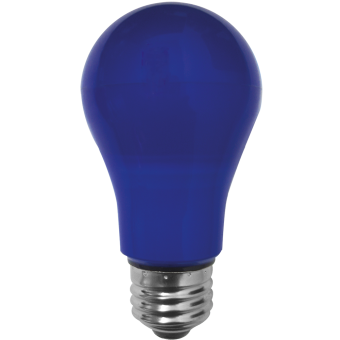 A19 55x108 LED E27 7W 230VAC blue plastic cover-outdoor non-transparent 6Lm 270°
