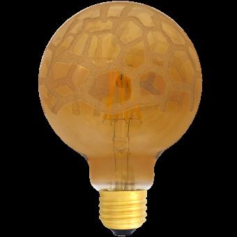 G95 Deco LED E27 240V 6W warmwhite 2700K Krokoeis bridge rectifier Flower cover 600lm / 6 string