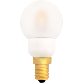 G45 Deco LED curved E14 240V 0,6W warmwhite 2400K