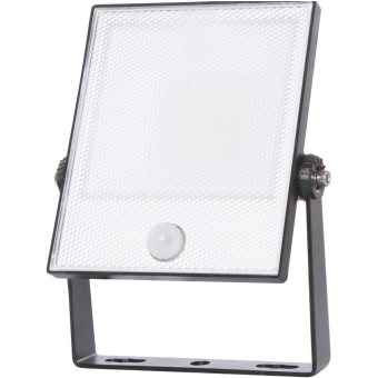 LED Floodlight CAS PIR 50W 220-240VAC 5000K 5000lm IP65 25.000h 110° 222x301x52mm